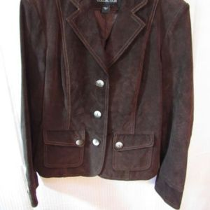 B Collection Jackets & Coats - B Collection Brown Suede Washable Jacket